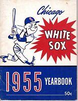 1955 Chicago White Sox Baseball Yearbook,magazine,Minnie Minoso, Nellie Fox~Fair