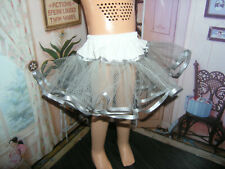 "Gray Nylon Net Slip Petticoat 25"" Doll clothes fits Mattel Charmin Cathy"