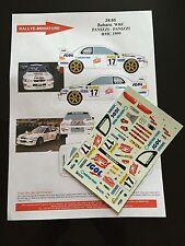 Decals 1/24 Subaru Impreza WRC Panizzi Rally Mounted Carlo 1999 Rally