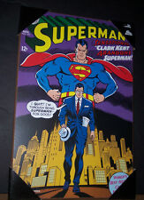 """DC Comics Superman #201 Clark Kent abandons Superman Wooden Wall art 19"""" x 13"""""""