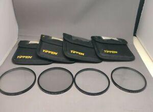 4 PC  Tiffen Professional Series 9 Black Pro-Mist 1/2, 1, 2, 1/4 Lens Filter Set