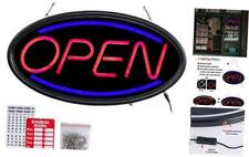 T-Sign Led Open Sign,19x10 Inches Lighted Neon Open Sign Include Business Hour