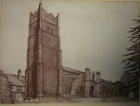 INK PAINTING, PICTURE, DRAWING OF EYE CHURCH, SUFFOLK