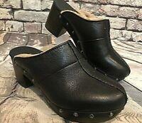 UGG Australia Kassi Black Clog Mule 1013042 Women's Shearling Leather Sz 5  $150