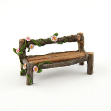 Miniature Dollhouse FAIRY GARDEN - Mini Wood Bench - Accessories