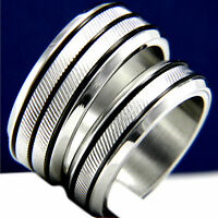 Engagement Ring Womens Stainless Steel Mens Bridal Wedding Band Set