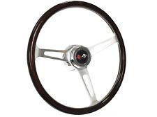 1969 - 1989 Chevy Steering Wheel Kit, Deluxe Wood & Cross Flags with Tilt