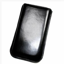 Housse Etui Pochette Protection façon cuir noir pour APPLE Iphone SE