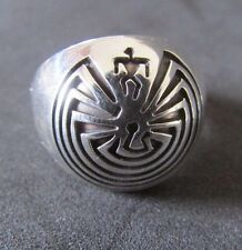 NWOT. MAN IN THE MAZE SOLID SILVER RING BY CALVIN PETERSON  HTF