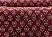 Indian Hand Block Print Cotton Fabric Natural Printed Handmade Sanganeri 10 Yard