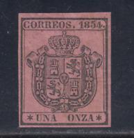 ESPAÑA (1854) NUEVO SIN FIJASELLOS MNH - EDIFIL 29 (1 o.) ESCUDO - LOTE 1