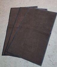 3 BROWN non slip 5x3ft washable Dirt Trapper Floor Door Mats Dog Office Kitchen