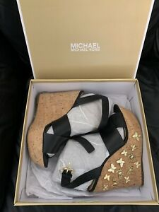 MK michael kors Black Wedges Size US 8M With Original Box UK Size 5 1/2 ?