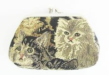 Signare Cats & Kittens Double Section Tapestry Coin Purse