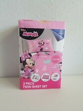 Disney Minnie Mouse 3 Piece Microfiber Twin Bedding Sheet Set & Pillowcase Kids