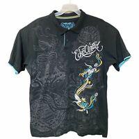 ECKO UNLTD Embellished Embroidered Graphic Logo Polo Shirt Mens Size XXL 2XL