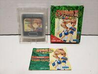 Madou Monogatari II 2 Sega Game Gear Japan Import Complete in Box CIB