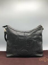 Vintage Mulberry Black Congo Print Leather Hand Bag Small Medium Shoulder Bag