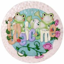 Spoontiques Frogs with Welcome Stepping Stone, New, Free Shipping