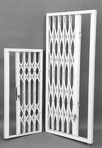 RETRACTABLE GRILLE SECURITY SHUTTER 83.2cm W x 229.5cm H, 91.9cm W x 113.5cm H