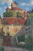 Ansichtskarte Meersburg a.B. Unterstadtkirche Schloß 1934 (Nr.970)