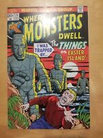 WHERE MONSTERS DWELL#24 1973 MARVEL BRONZE AGE COMICS