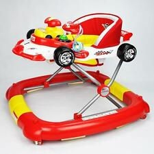 F1 Racing Car Themed Red Baby Walker Rocker Play Activity Centre