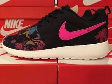 Womens Nike Roshe One Print PREM  Black Pink Foil Sail UK 4 EUR 37.5 749986-061