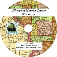 1912 History & Genealogy of MONROE County Wisconsin WI
