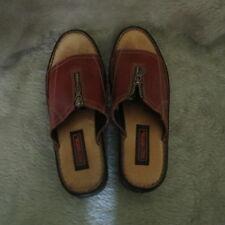 Harley Davidson Women Leather Sandals Slip On Brown Size 7 1/2