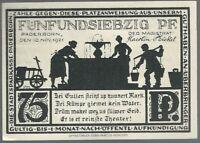 Notgeld - Stadt Paderborn - 75 Pfennig - 1921 - Motiv: Paterskirche