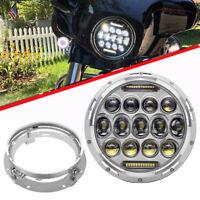 "Kawasaki VN Vulcan 500 750 800 900 1500 1600 7"" Chrome LED Headlight Hi/Lo Beam"