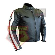BMW 3874 RED MOTORBIKE COWHIDE LEATHER MOTORCYCLE BIKERS ARMOURED JACKET