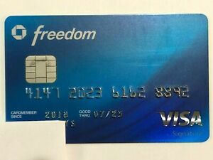 CHASE FREEDOM Collectable Inactive/Expired Credit Card