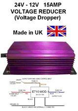 24V to 12V VOLTAGE REDUCER, 24v-12v VOLTAGE DROPPER 15AMP 180W DC-DC,Made in UK