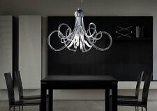 Lampadario contemporaneo design in vetro e foglia argento BELL chic 2010/S8L