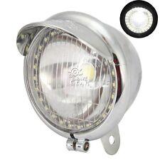 """5"""" Chrome Headlight Spot Light LED Angel Eye For Kawasaki VN Classic Custom 900"""