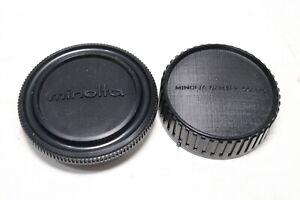 Vintage Minolta MD Mount Camera Body Cap Rear Lens Cap Original OEM