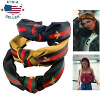 3Pcs Womens Headband Twist Hairband Bow Knot Cross Flower Tie Headwrap Hoop US