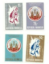 SPECIAL LOT Indonesia 1965 655-8 - Afro-Asian Conf - 100 Sets of 4v - MNH Sheets