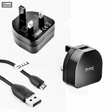 Original Mains Adaptor Charger Plug, C TYPE, Micro USB Cables For HTC Phones UK