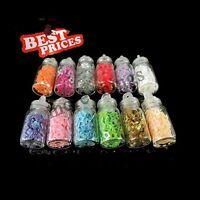12 Bottles Mini 3D Nail Art Glitter Flake Tips DIY Decor Manicure Star Shape