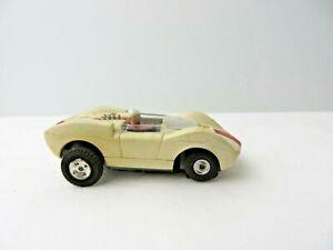Vintage Aurora Slot Car McLaren Elva Beige with Red Stripe #0272