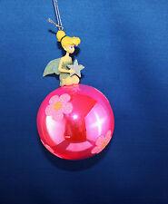 Disney Tinker Bell Star & Pink Glass Ball Christmas Ornament 45551 Tinkerbell
