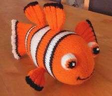 Nemo the clown fish knitting pattern for a soft toy