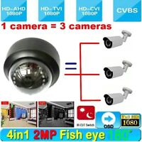 HD 1080P CCTV Security camera 180 degree Wide Angle Cam IR night vision 4 in 1
