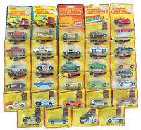 1980s Lot of 29 Lesney Die Cast Toy Matchbox Cars Trucks Original Packaging