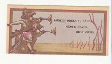 H C Allen Ladies Dressing Cases Glove Boxes Odor Cases Trumpets Vict Card c1880s