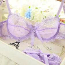Women Ultra-thin Bra and Knickers/Briefs Set Ladies Sexy Transparent Lingerie