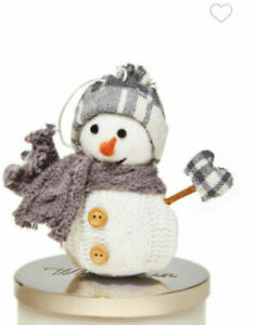 Bath & Body Works Gray Snowman Magnetic Candle Topper NEW WITH TAGS!